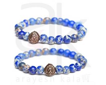 دستبند زیبایی آبی طرح شیر