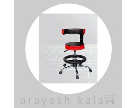 صندلی جکدار مشکی قرمز مدل 3268