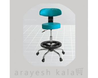 صندلی تابوره پزشکی آبی فیروزه ای مدل 3412