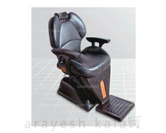 صندلی آرایشگاهی برقی مشکی نارنجی مدل 6813