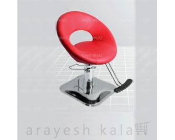 صندلی کپ آرایشگاهی پدالی قرمز