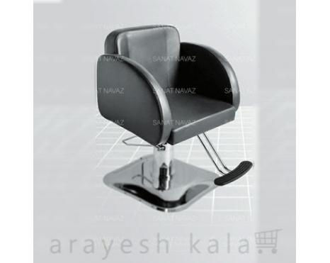 صندلی کوتاهی آرایشگاه جکدار مشکی