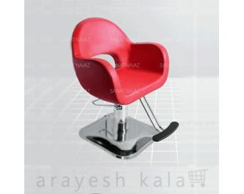 صندلی کوتاهی مو آرایشگاه قرمز